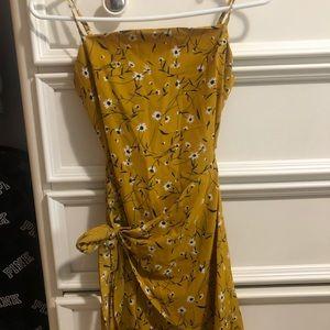 floral mustard dress
